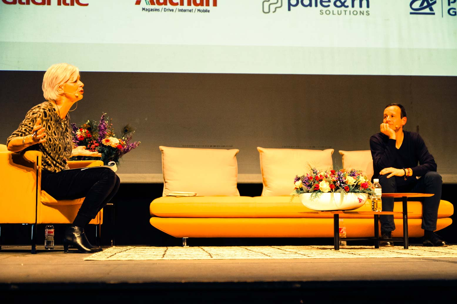 Iker Aguirre et Annie Lemoine sur scène, Premium CJD Pau Béarn 2018