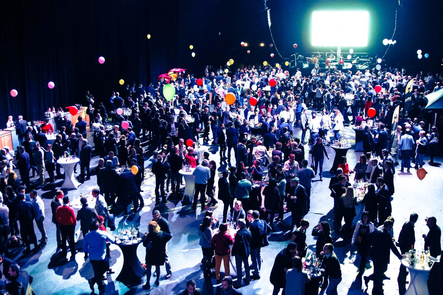 Le cocktail pour 1000 personnes qui a suivi les interventions d'Iker Aguirre et Raphaël Enthoven lors de la Premium CJD Pau Béarn du 26 Janvier 2018.