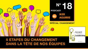 Podcast Episode 18 - Cinq étapes du changement dans la tête de nos équipes
