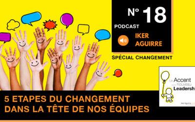 Episode 18 : Cinq étapes du changement dans la tête de nos équipes