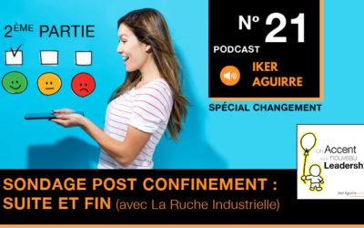Episode 21 : Sondage Bilan Confinement de La Ruche Industrielle, 2ème Partie (Suite et Fin).
