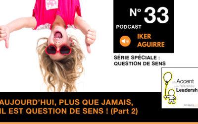Episode n°33 : Aujourd'hui, plus que jamais, il est question de sens (partie 3)