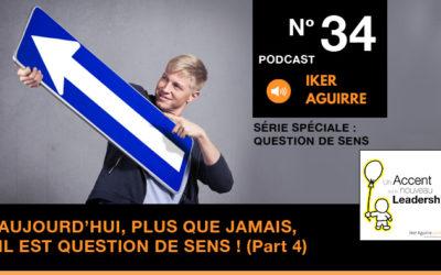 Episode n°34 : Aujourd'hui, plus que jamais, il est question de sens (partie 4)